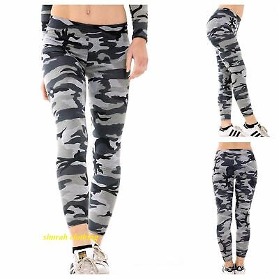 £5.98 • Buy New Womens Ladies Casual Stretch Camouflage Print Girls Leggings Plus Size 8-22