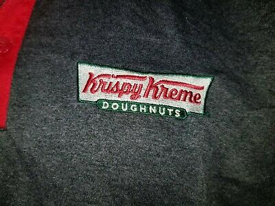 $6.98 • Buy Krispy Kreme Doughnuts Gray/red Collared Polyester 3-button Work Shirt