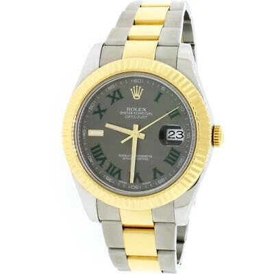 $ CDN14218.11 • Buy Rolex Datejust II 2-Tone Gold/Steel 41mm Grey Roman Dial Automatic Watch 116333
