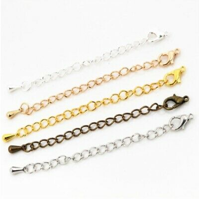 Extender Tail Chain Lobster Clasps Connector Findings Bracelet Necklace Jewelry • 5.59£