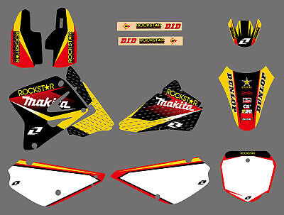 $42.77 • Buy 2002-2015 For Suzuki RM 85 RM85 Pro Team Graphics Decal Kit Stickers Side Panels