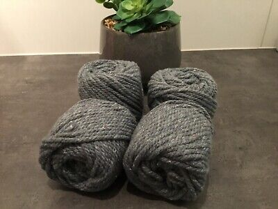 AU5 • Buy 4mm* 35  Metre Approx : Macrame Rope Grey Cotton Twisted Cord