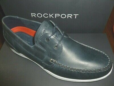 Rockport Mens Boat Shoes Leather Navy Blue Cullen Ch4933 Free Uk Post • 39.99£