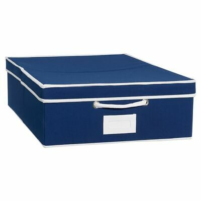 $39.37 • Buy Pottery Barn PB Teen Solid Canvas Underbed Storage Bin With Trim ~ Navy Blue