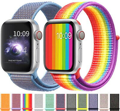 $ CDN4.69 • Buy 38/42/40/44mm Nylon Sports Loop IWatch Band Strap For Apple Watch Series 5 4 3 2