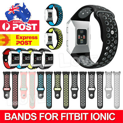 AU10.95 • Buy Silicone Replacement Band Sport Bracelet For Fitbit Ionic Watch Strap Watchband