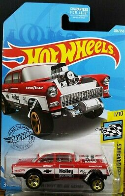 2019 Hot Wheels '55 Chevy Bel Air Gasser Holley 1955  ~  Fast Free Shipping! • 10.98$