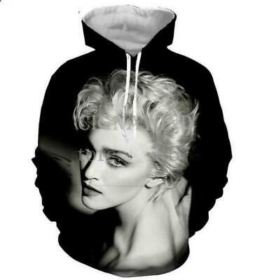 $ CDN20.11 • Buy 3D Print Men Women Hoodie Sweater Sweatshirt Singer Madonna Jacket Pullover