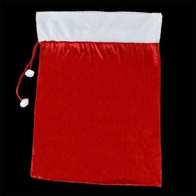 Christmas - Deluxe Giant Sack - Red Velour With White Trim & Pom Pom Ties • 10.99£