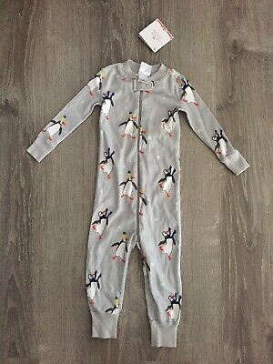 $17.99 • Buy New Boys Hanna Andersson Sleeper Penguin Gray Pajamas 1-piece US 18-24 Months