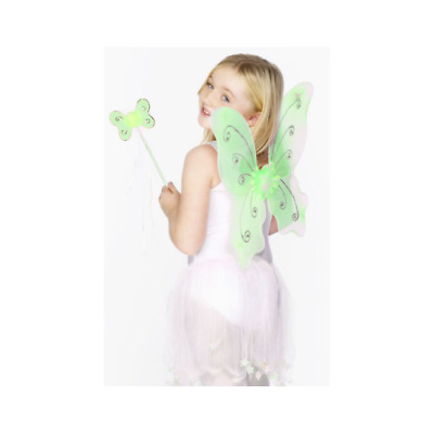 £7.90 • Buy Smiffys Kids Dress Up Green Butterfly Wings With Wand