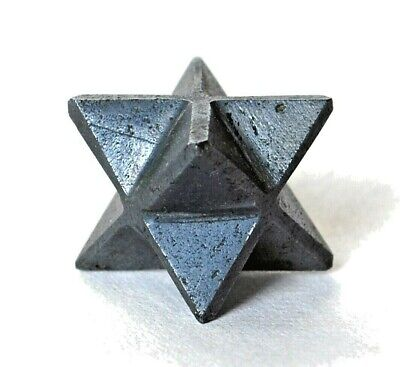 Crystal For Protection - Hematite Merkaba Star Reiki Energy Charged Gift Wrapped • 8.99£