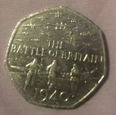 BATTLE OF BRITAIN 1940, 2015 50p COIN CIRCULATED CONDITION Fifty Pence • 1,100£