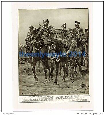 RETURN FROM THE CHARGE (BY R CATON WOODVILLE), WW1, Book Illustration (Print) • 11.97£