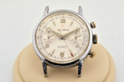 $ CDN394.17 • Buy Vintage Men's Helbros Chronograph Parts Watch Valjoux 7730 Manual Wind