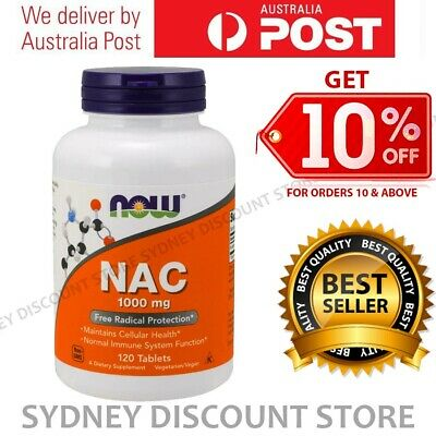 AU49.91 • Buy Now Foods N-Acetyl-Cysteine 1000 Mg 120 - 360 Tablets NEW