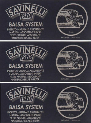 AU21.23 • Buy 3 Pack 15 Each Savinelli Dry System 9mm Balsa Filter Inserts For Pipes - 2322-3