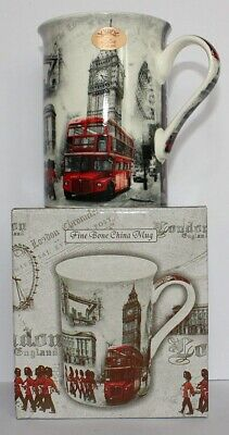Leonardo London Landmarks China Mug + Gift Box, Big Ben, Palace, Tower Bridge • 15.38£