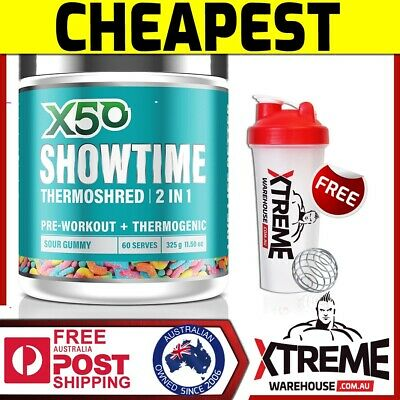 AU69 • Buy X50 Showtime 2in1 60srv Pine Mang // Thermoshred Fat Burner Green Tea Tribeca