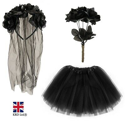 Halloween CORPSE BRIDE COSTUME Fancy Dress Ladies Womens Horror Zombie Graveyard • 19.30£
