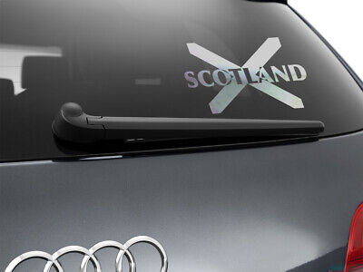 Scotland Flag Car Sticker Styling Decal Scottish Flag, Chrome Silver • 3.30£