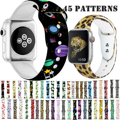 AU17.14 • Buy Replacement Silicone Sports Strap Band For Apple Watch Series 54321 38/40 42/44