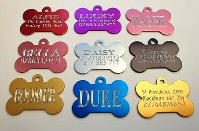 Engraved Personalised Pet Id Tag,Dog Identification Tags,deep Engraving,dog Tags • 2.79£