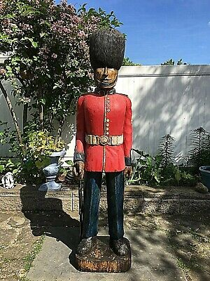 $1999.99 • Buy 6ft Life Size Wood Vintage Statue Britsh English Guardsman Army Military Soldier