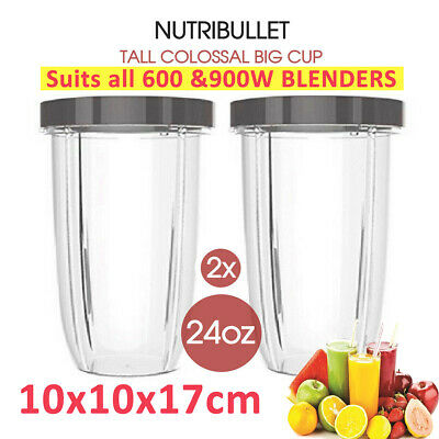 AU17.99 • Buy 2X 24oz NUTRIBULLET TALL COLOSSAL BIG CUP SUITS All 600 900W Nutri Bullet Models