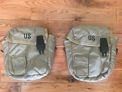 $ CDN28.84 • Buy (2) NEW 2QT Collapsible Water Canteen Cover Pouch Desert Tan US Army Military