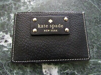$ CDN28.99 • Buy Kate Spade Black Leather Card Holder, Lightly Used,Authentic, Free Shipping