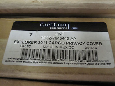 $29.99 • Buy Ford Explorer OEM Cargo Security Shade Rear Privacy Cover BB5Z-7845440-AA