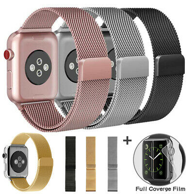 $ CDN6.50 • Buy For Apple Watch Series 5 4 3 2 1 Milanese Stainless Steel IWatch Band Loop Strap