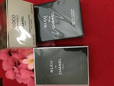 Chanel  Bleu Parfum And After Shave Lotion And Coco Body Cream + Gifts • 159$
