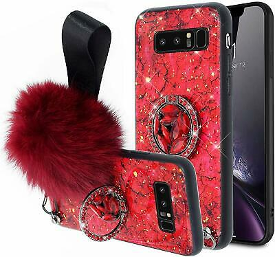 $ CDN9.13 • Buy Cases For Samsung Galaxy S8 S9 S10 Glitter Diamond Stand Cover With Hair Ball