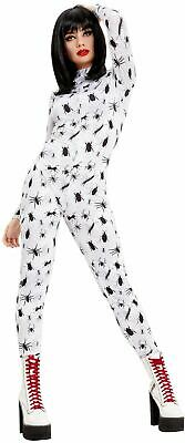 Womens Bug Print Insect Spider Catsuit Fancy Dress Costume Halloween Outfit • 23.49£