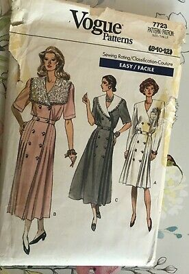 £5 • Buy Vogue 7723 Vintage Pattern For Ladies Dresses. Genuine 1990. Sizes 8, 10 And 12.