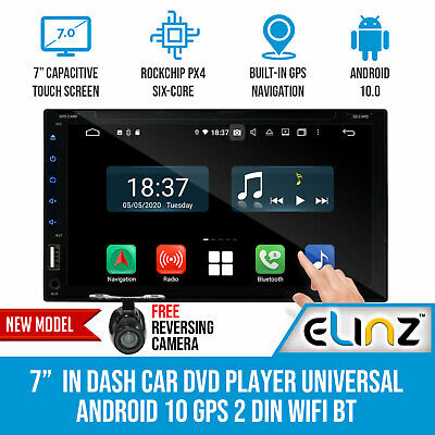 AU440 • Buy 7  In Dash Car DVD Player Universal 2 DIN Android 10 GPS WiFi BT Reverse Camera
