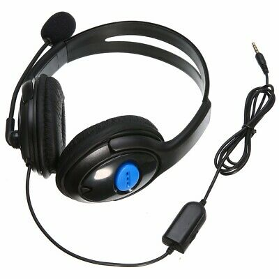 3.5mm Gaming Headset Stereo Headphone Earphone With Mic For Sony PS4 PC Laptop • 5.99£