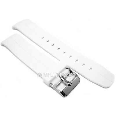 22mm White Resin Curved End Divers Sports Watch Strap Fits Seiko Citizen Etc... • 3.95£