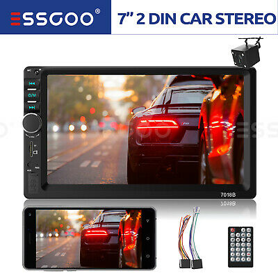 $64.99 • Buy 7  Touch Screen Car Stereo MP5 Player Bluetooth Radio 2 DIN AUX + Reverse Camera
