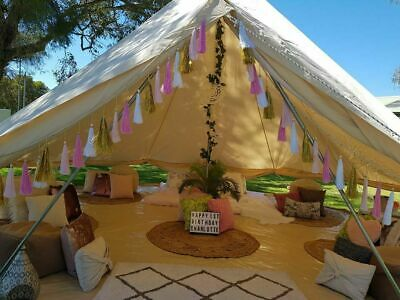 £599.99 • Buy Bell Tent 5M Cotton Canvas Camping Tent Yurt Glamping Waterproof Wedding Outdoor