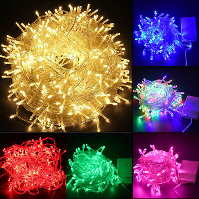 $6.48 • Buy 500LED Outdoor Fairy String Lights Christmas Tree Waterproof Wedding Mall Decor