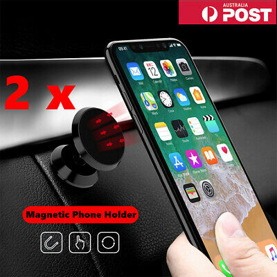 AU15.99 • Buy 2 X Universal Magnetic Magnet Dashboard Mobile Phone Holder Dash Car Mount Stand