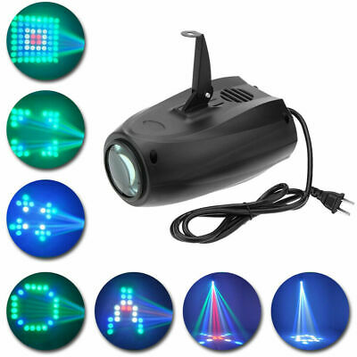 Music Active RGBW LED Lights Laser Stage Effect Lighting Club Disco DJ Party Bar • 20.69$