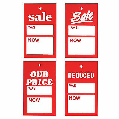 £9.49 • Buy SALE CARDS WAS NOW TAGGING GUN PRICING GUN HANGER SWING TICKETS - Pack Of 500pcs