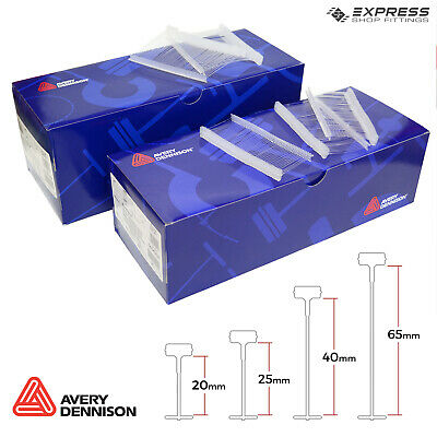 Avery Dennison Attachments, Clear Kimble Barbs For Standard Tagging Gun - 4sizes • 6.49£