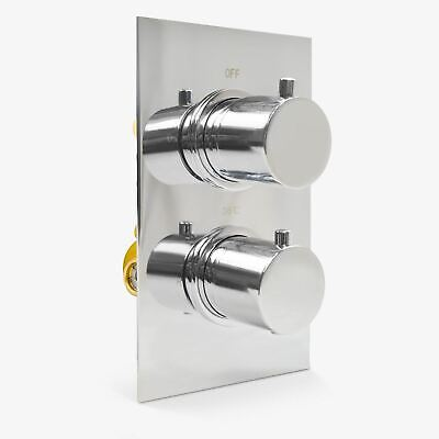 Lily Round 2 Dial 1 Way Chrome Concealed Thermostatic Shower Mixer Valve • 49.99£