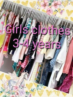 Girls Clothes Make Your Own Bundle Size 3-4 Years Dress Coat Jean Legging Blouse • 2.99£