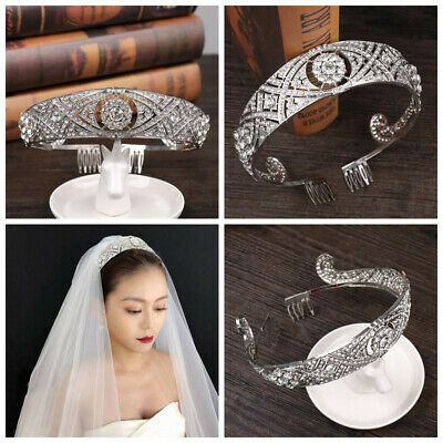 $ CDN13.20 • Buy Wedding Bridal Silver Crystal Headband Jewelry Hairband Hair Accessories Crown